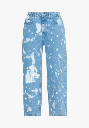 BLEACH SPLATTERED GRIP - Relaxed fit jeans - light blue