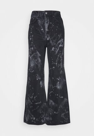 TRIP WITH BLEACH SPLATS - Jeans relaxed fit - charcoal