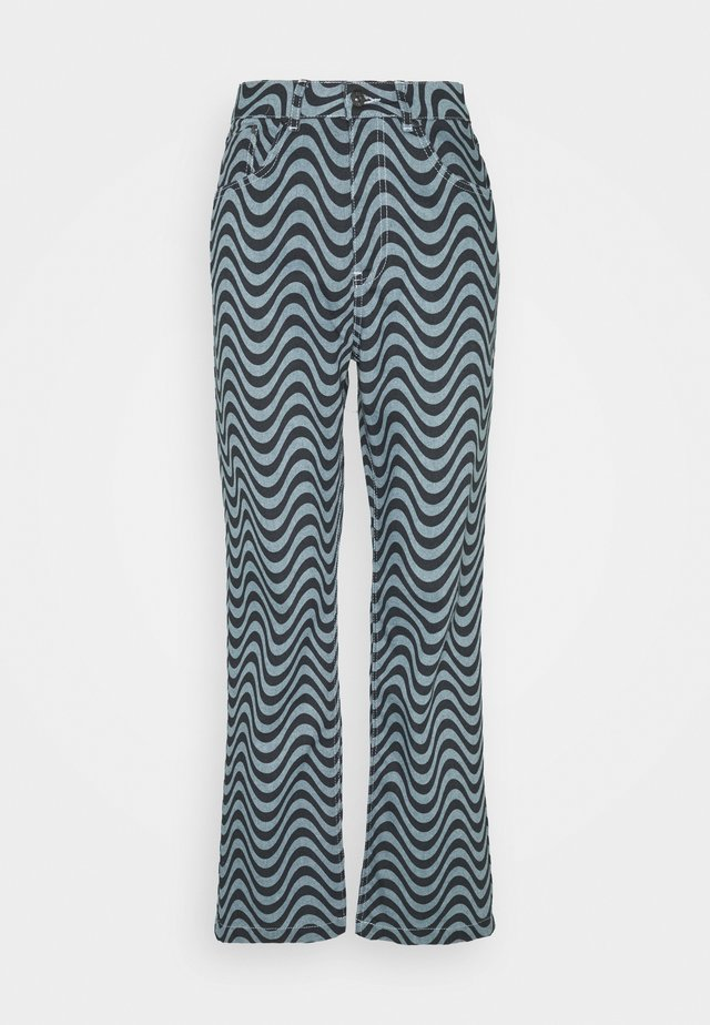 WAVE PRINT DAD - Jeans a sigaretta - blue