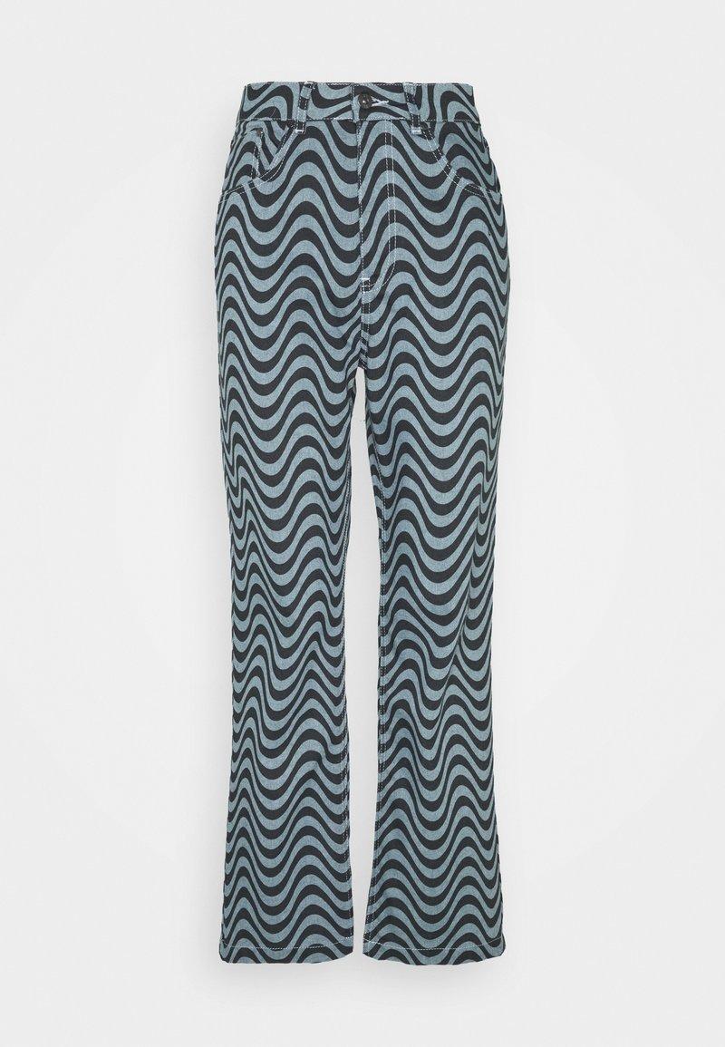 The Ragged Priest - WAVE PRINT DAD - Straight leg jeans - blue