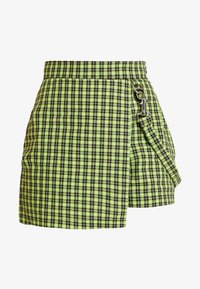 The Ragged Priest - CHECK WRAP OVER SKORT WITH STRAP - Kraťasy - lime/black - 3