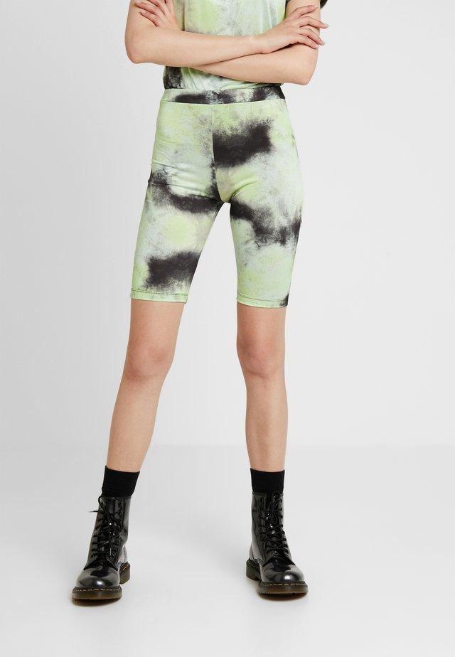 TIE DYE - Shorts - lime