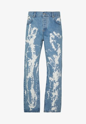 RAGGED BLEACH SPLAT STRAIGHT LEG - Straight leg jeans - light blue