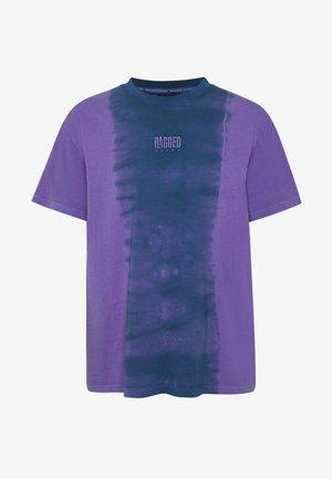 RAGGED TWO TONE TEE - T-shirts med print - purple