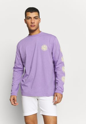 GRAPHIC SLEEVE LOGOLS TEE - Long sleeved top - purple
