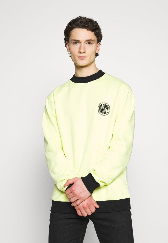 CREWNECK GRAPHIC LOGO - Sweatshirt - yellow