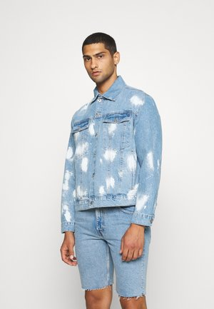RAGGED BLEACH SPLAT  - Giacca di jeans - light blue