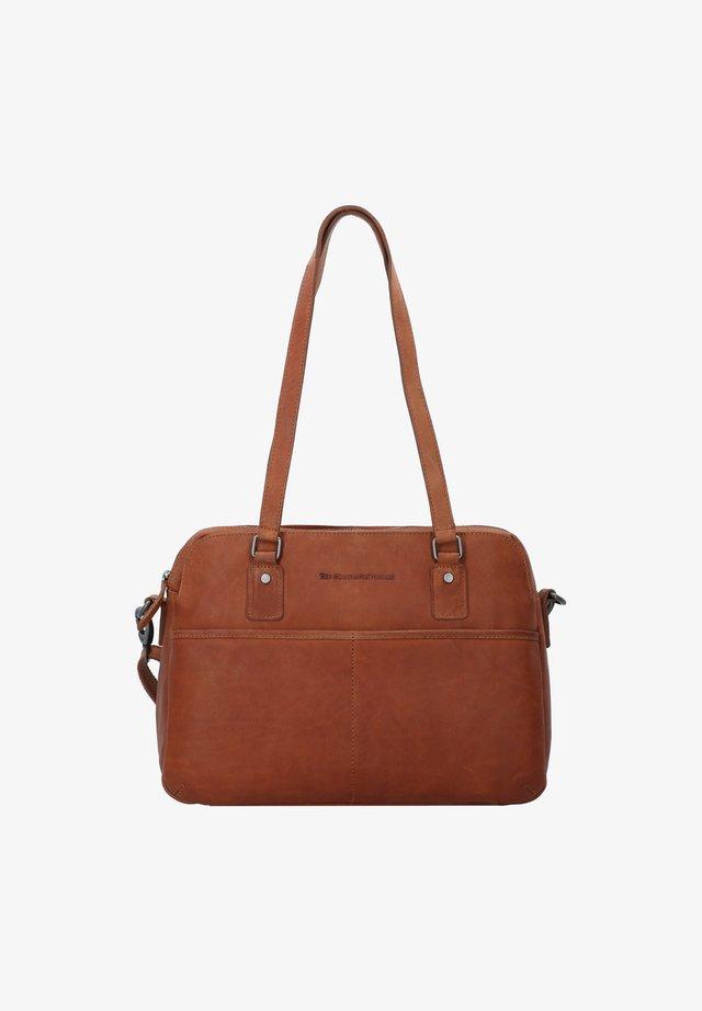 BARCELONA - Laptop bag - cognac