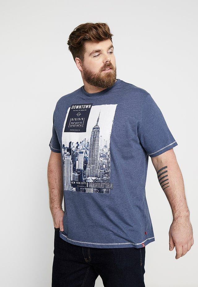 CLIVE - T-shirts print - denim marl