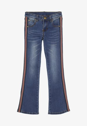 WITH BAND - Jean flare - blue denim