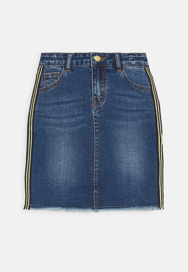 RANA SKIRT - Mini skirt - dark blue denim