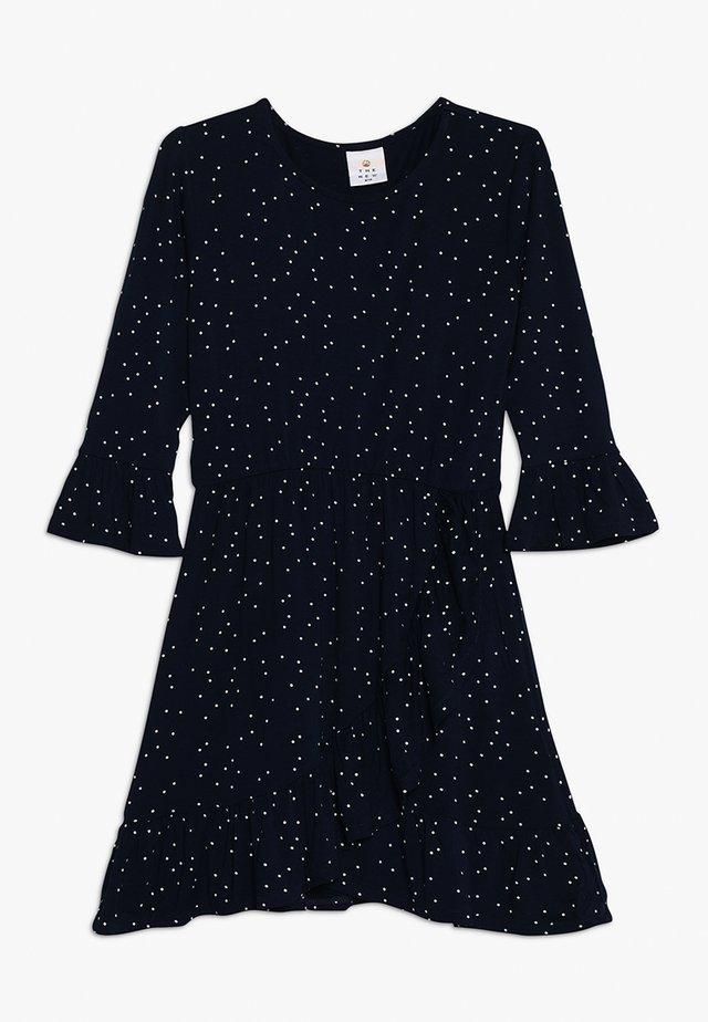 KISA FRILL DRESS - Jersey dress - black iris