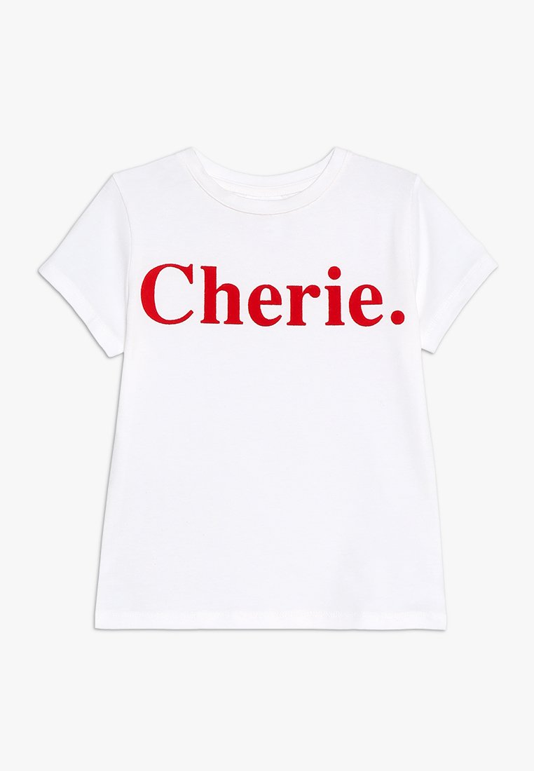 The New - CHERIE TEE - T-shirts print - white/red