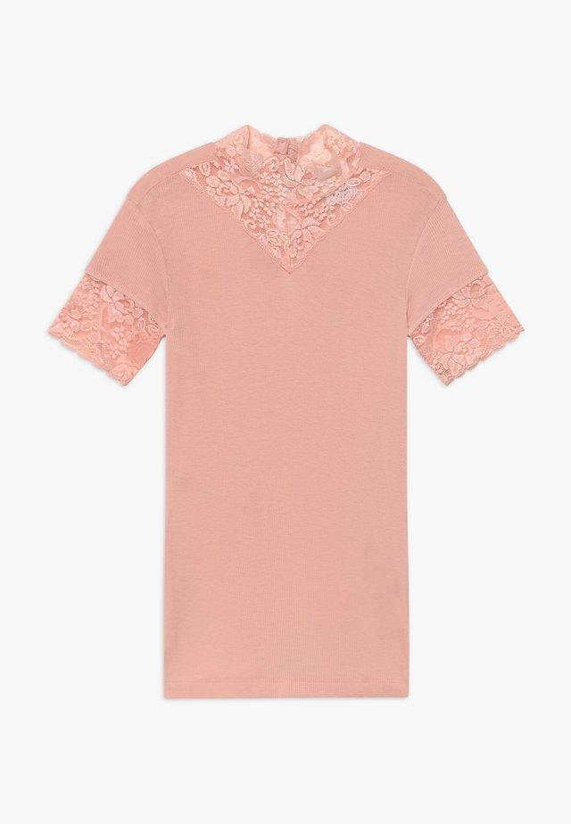 TEE - T-shirt med print - peachskin