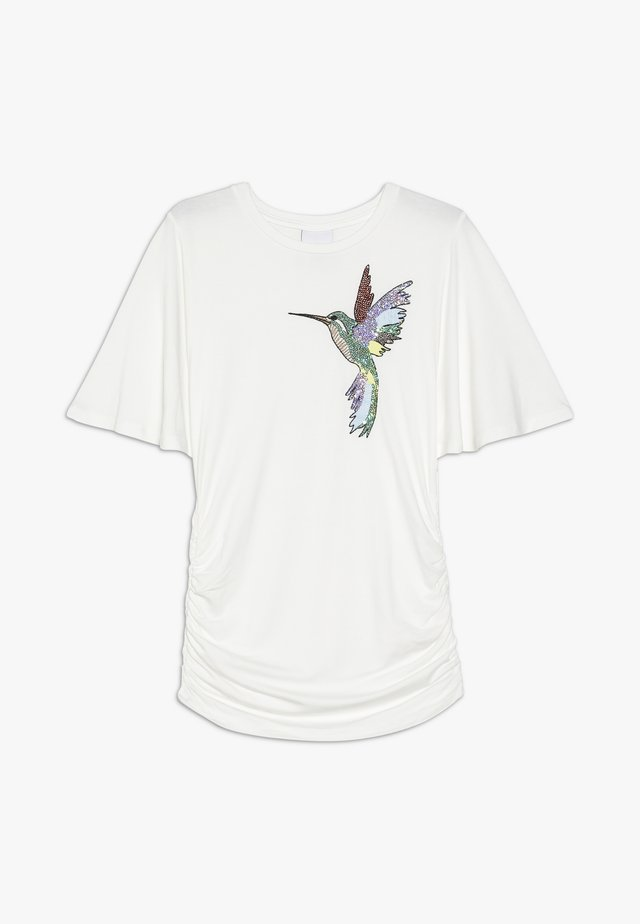 OTELIA TEE - Print T-shirt - cloud dancer