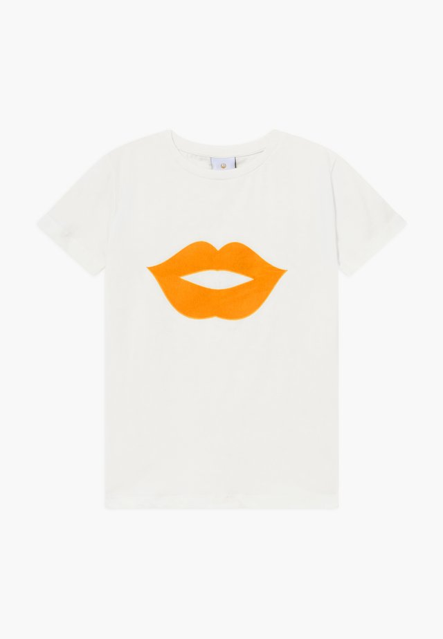 OKISS  - T-shirt imprimé - yellow/white