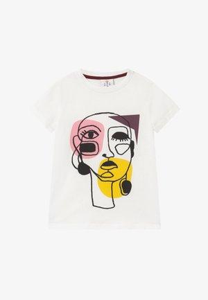 RIGA TEE - Print T-shirt - cloud dancer