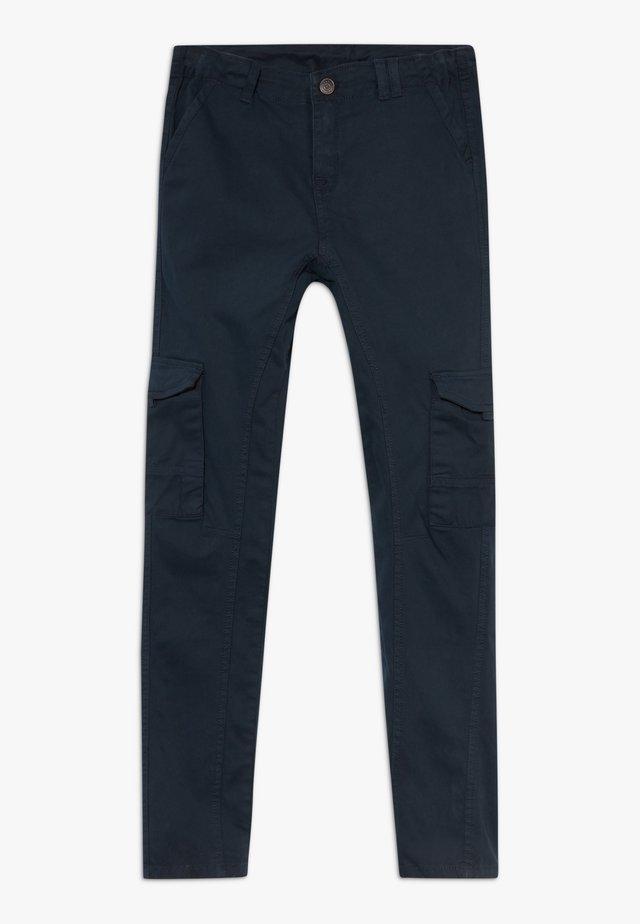 OLEG BUKSER - Cargo trousers - black iris