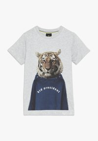 The New - OVE TEE - Print T-shirt - light grey melange - 0