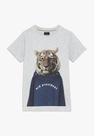 OVE TEE - Print T-shirt - light grey melange