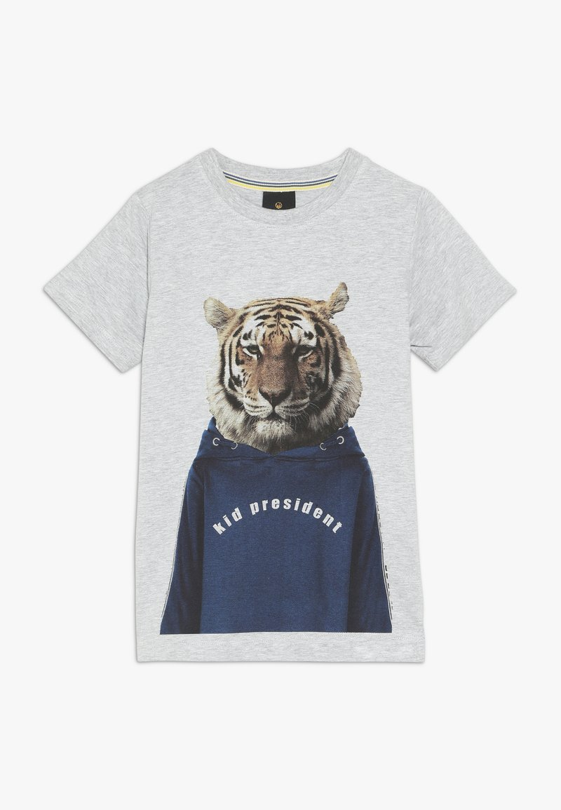 The New - OVE TEE - Print T-shirt - light grey melange