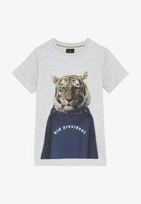 The New - OVE TEE - Print T-shirt - light grey melange - 2