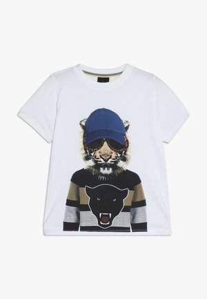 OBER TEE - Print T-shirt - bright white