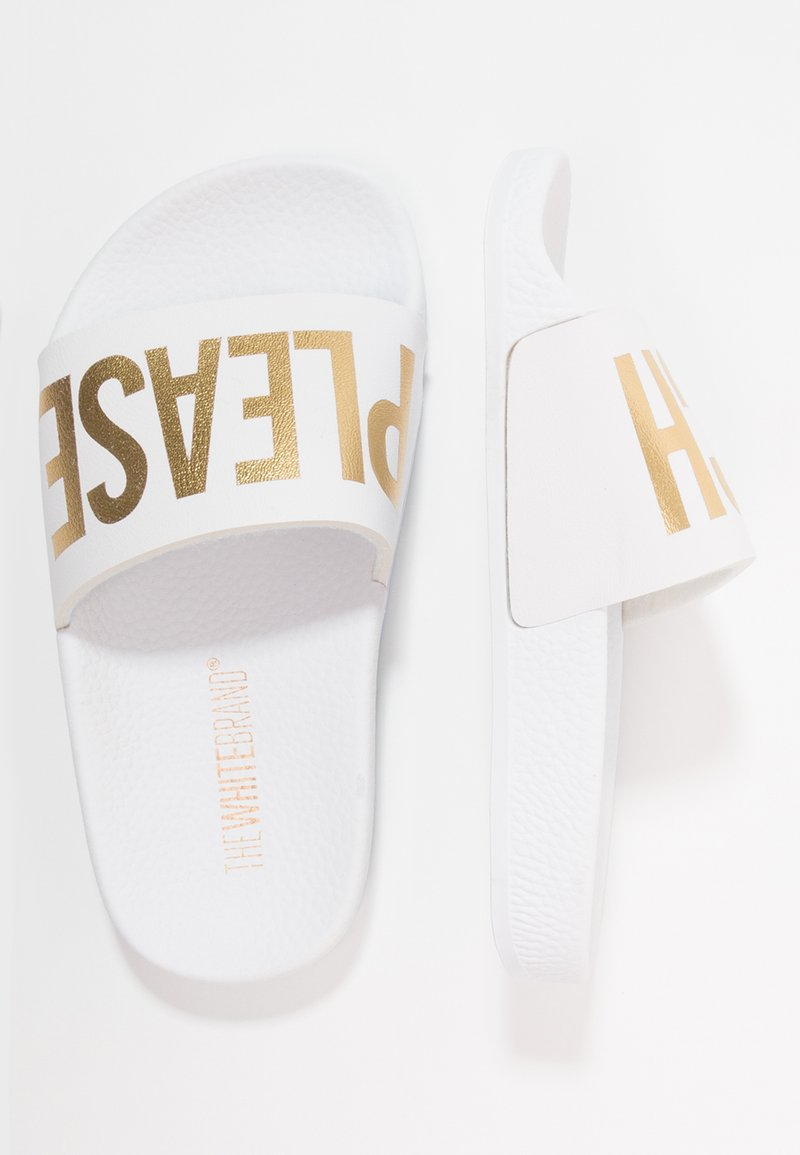 THE WHITE BRAND - BEACH MINIMAL - Pantolette flach - white