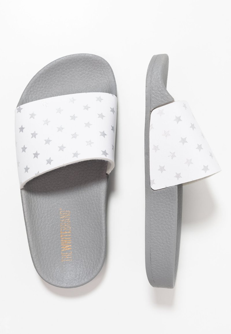 THE WHITE BRAND - MINI STARS - Sandalias planas - silver