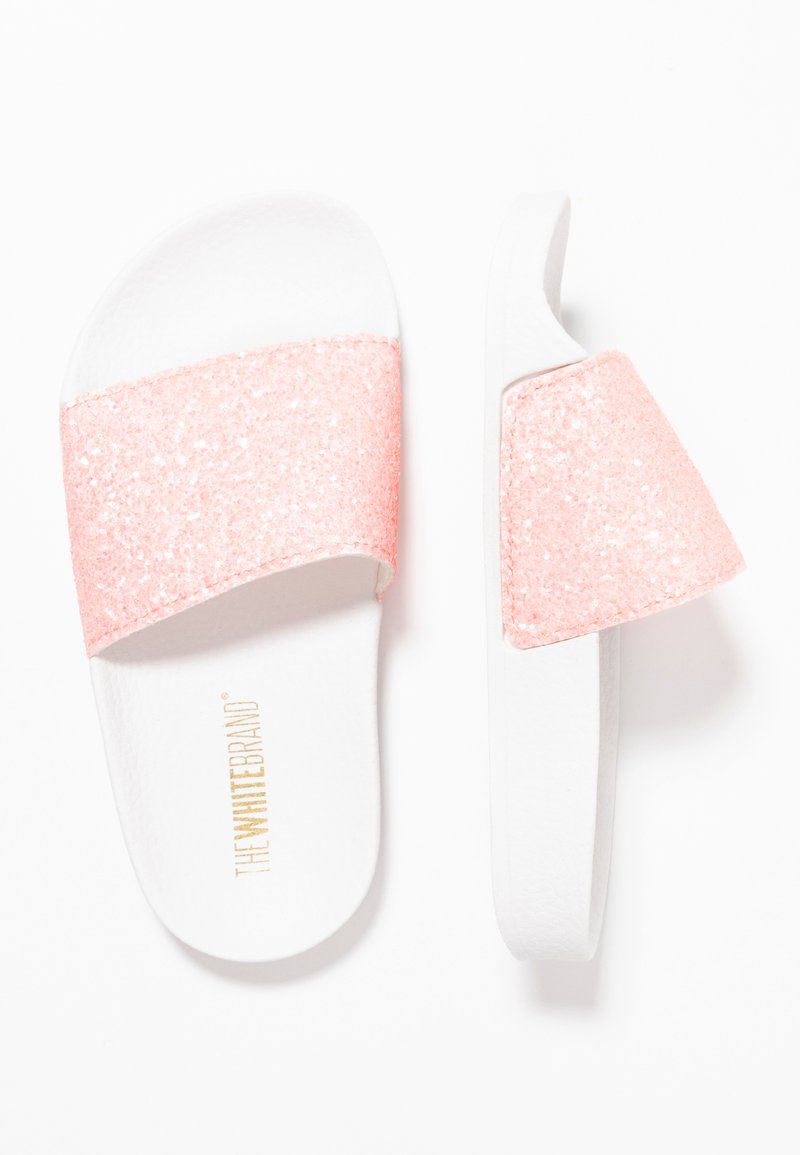THE WHITE BRAND - MATE GLITTER - Klapki - pink