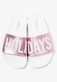 THE WHITE BRAND - HOLIDAYS - Pantolette flach - metallic pink - 6