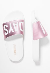 THE WHITE BRAND - HOLIDAYS - Pantolette flach - metallic pink - 0
