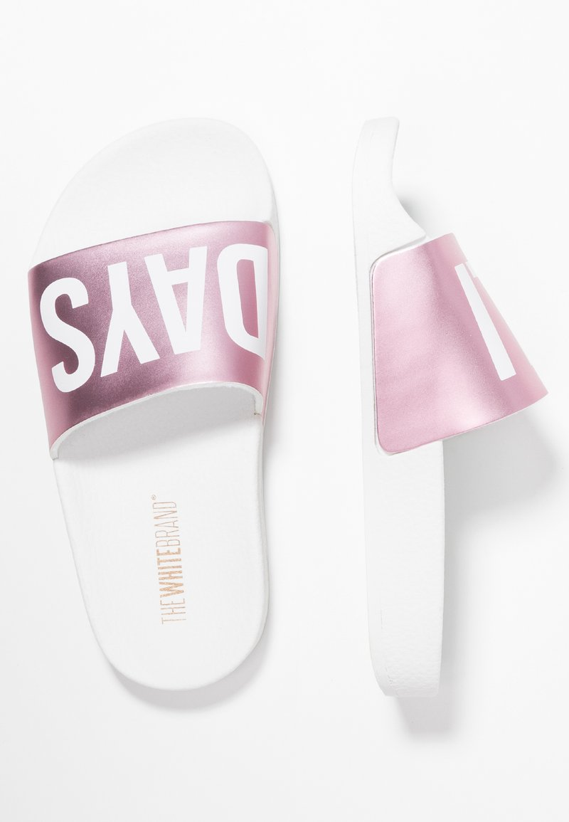 THE WHITE BRAND - HOLIDAYS - Pantolette flach - metallic pink
