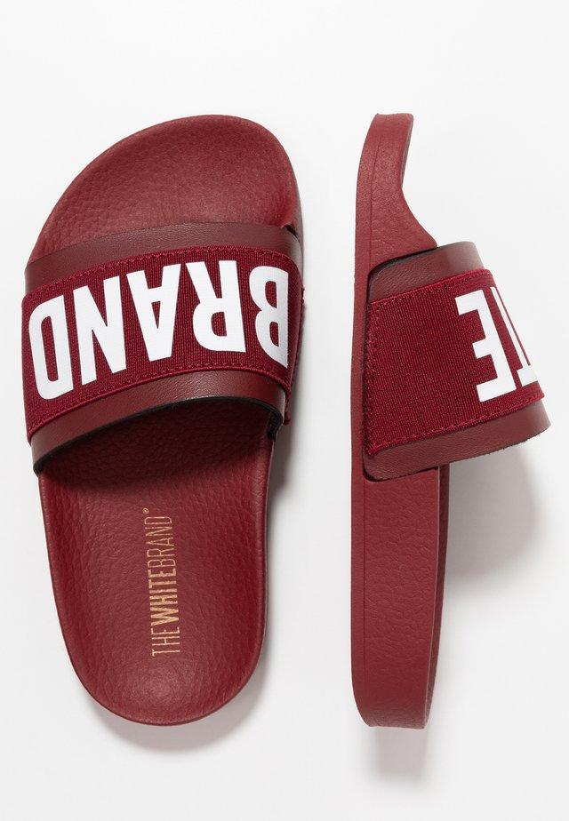 MINIMAL ELASTIC - Pantofle - burgundy