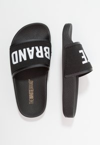 THE WHITE BRAND - MINIMAL ELASTIC - Pantofle - black - 0