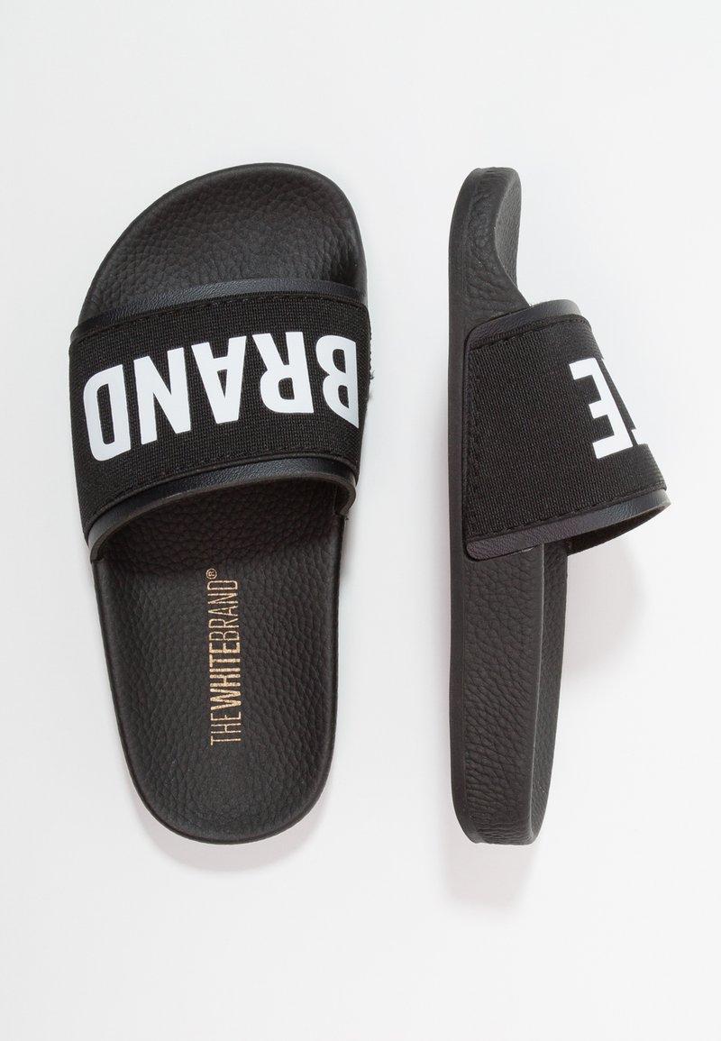 THE WHITE BRAND - MINIMAL ELASTIC - Pantofle - black