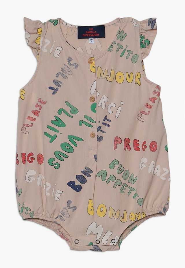 BUTTERFLY BABIES WORDS BABY - Jumpsuit - toasted almond