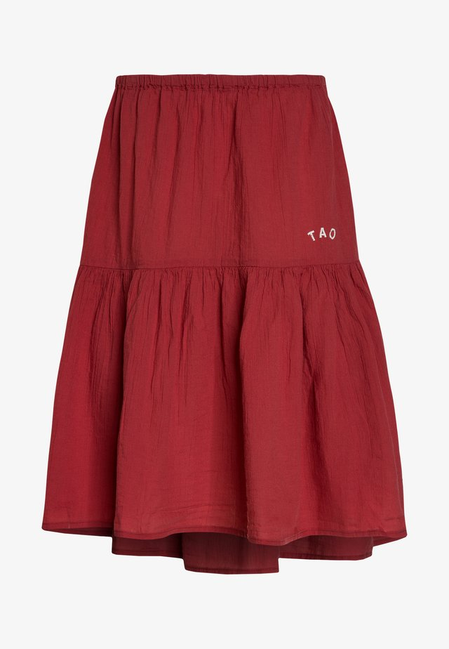 SKIRTS - A-linjekjol - red/white