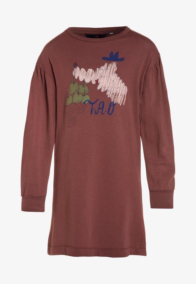 DRESSES BIG DOG - Jerseykjoler - maroon bomar