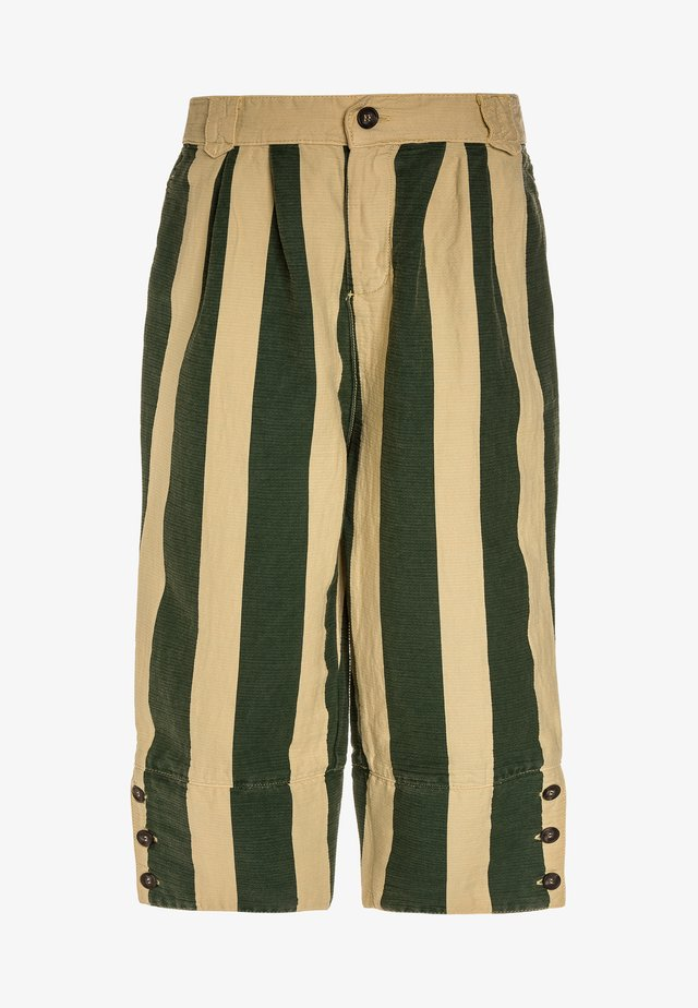 ELEPHANT KIDS PANTS STRIPES - Pantaloni - yellow/maroon