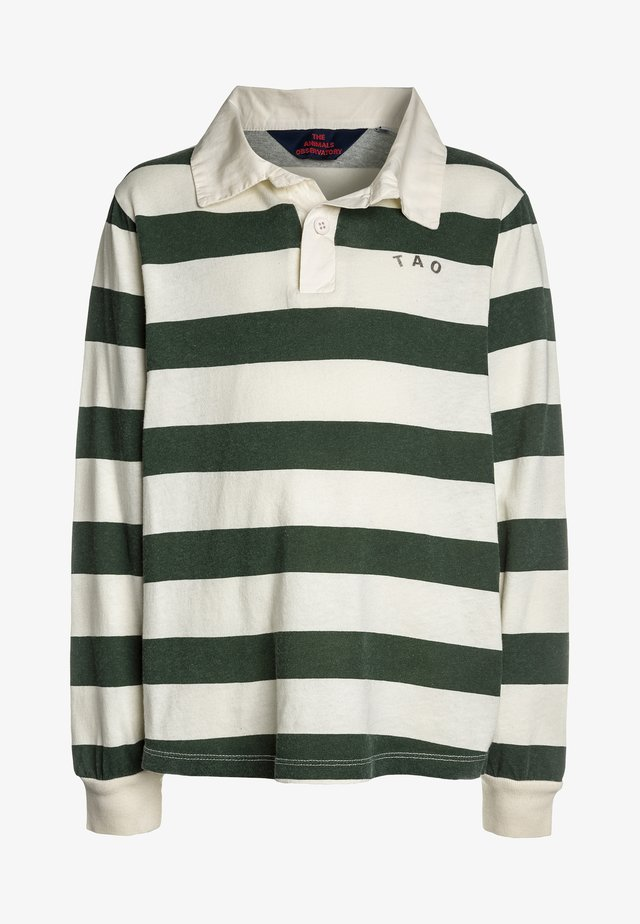 EEL KIDS STRIPES - Polo - white green