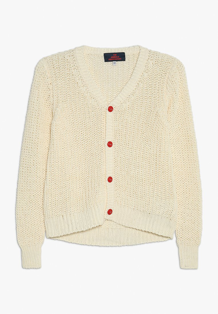 THE ANIMALS OBSERVATORY - PLAIN RACCOON KIDS - Cardigan - raw white
