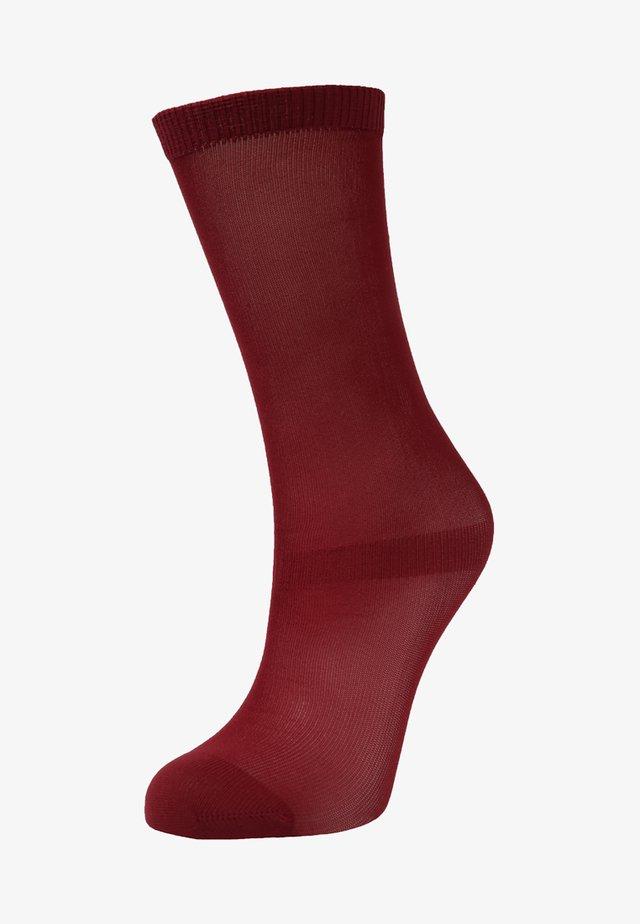 WORM SOCKS - Knee high socks - maroon