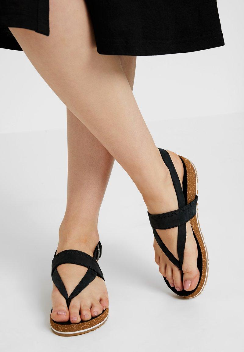 Timberland - MALIBU WAVES THONG - T-bar sandals - black