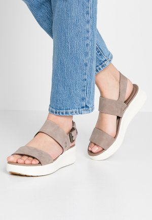 LOS ANGELES WIND 2 BANDS - Platform sandals - taupe
