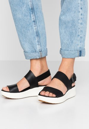 LOS ANGELES WIND 2 BANDS - Sandalias con plataforma - black