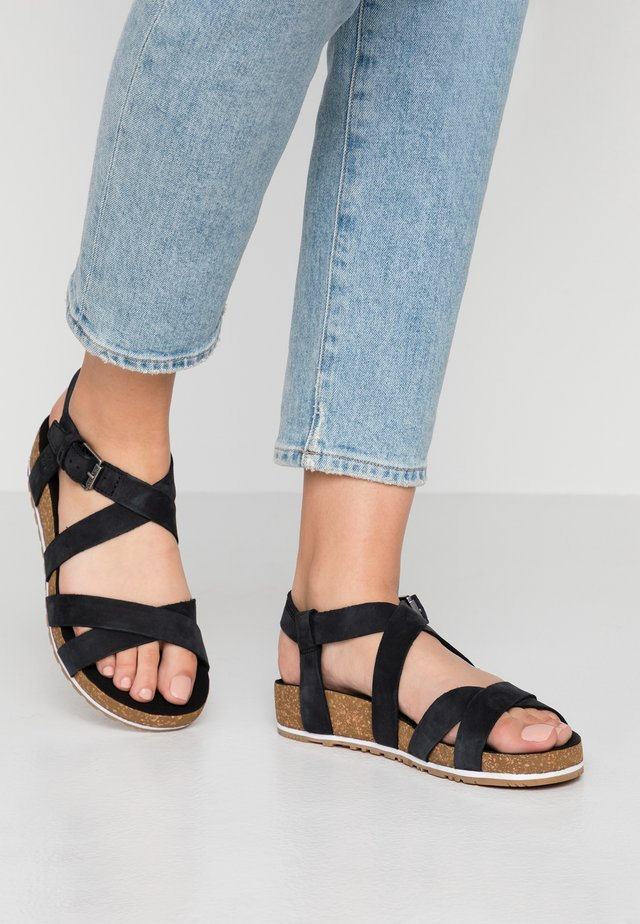 MALIBU WAVES ANKLE - Sandalen - black