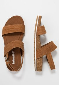 Timberland - MALIBU WAVES 2BAND - Sandals - rust - 6