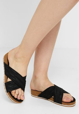 MALIBU WAVES CROSS SLIDE - Mules - black