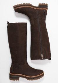 Timberland - COURMAYEUR VALLEY TALL - Vysoká obuv - dark brown - 3